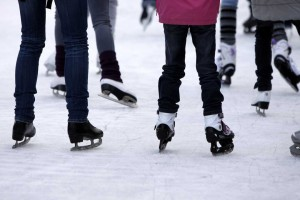 ice-skating-legs and skates only