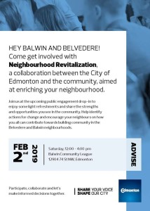 Neighbourhood Revitalization meeting poster
