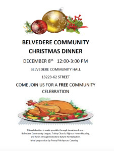 Belvedere Community Christmas Dinner @ Belvedere Community Hall
