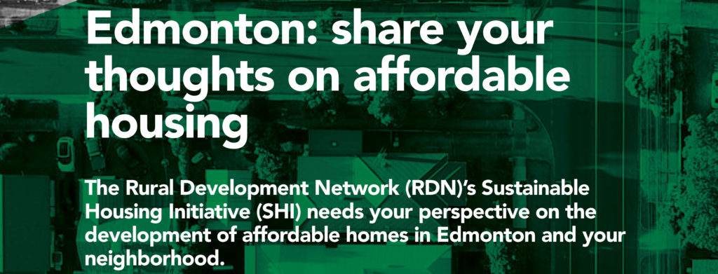 Edmonton: Share your thoughts on affordable housing