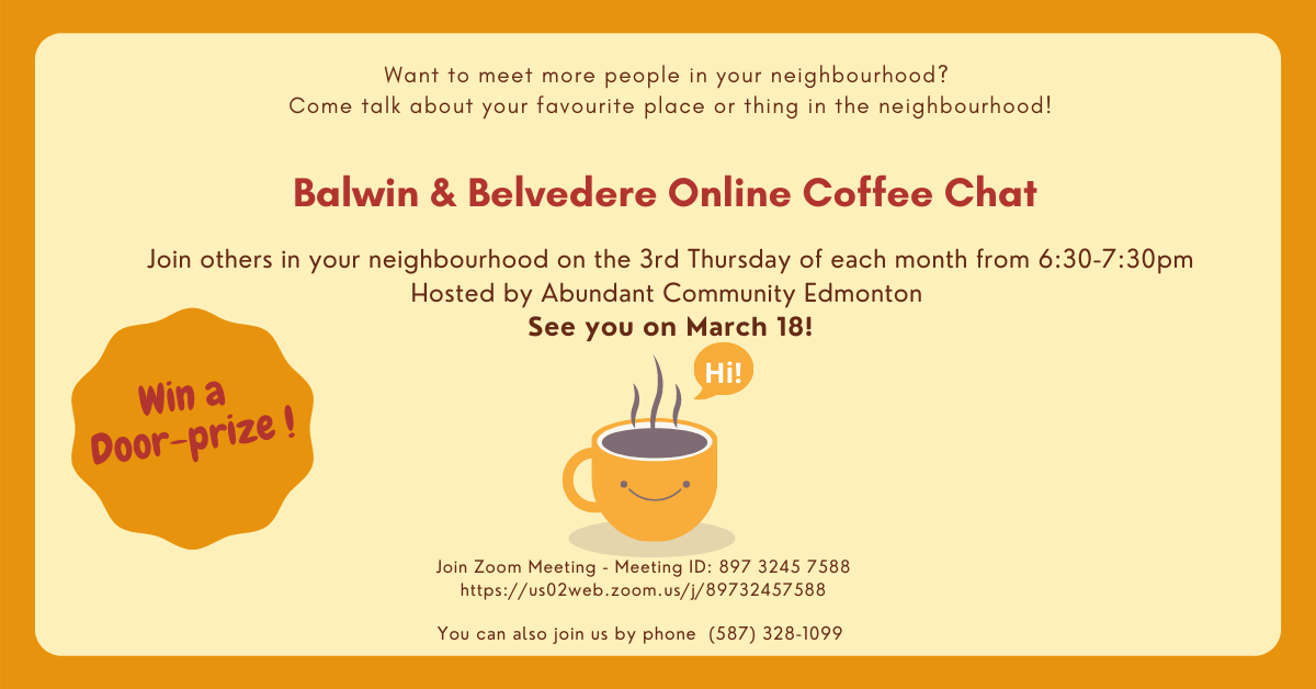 March 18 Balwin & Belvedere Online Coffee Chat