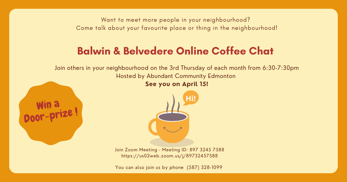 April 15 Balwin & Belvedere Online Coffee Chat
